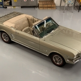 1966 Mustang convertible Sauterne Gold 289 Pony interior Concours -56