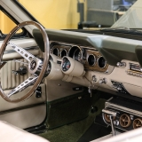 1966 Mustang convertible Sauterne Gold 289 Pony interior Concours -57
