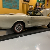 1966 Mustang convertible Sauterne Gold 289 Pony interior Concours -58