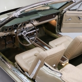 1966 Mustang convertible Sauterne Gold 289 Pony interior Concours -7