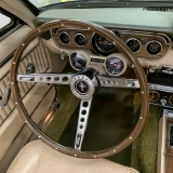 1966 Mustang convertible Sauterne Gold 289 Pony interior Concours -8