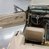 1966 Mustang convertible Sauterne Gold 289 Pony interior Concours -9