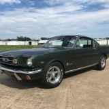 1966 Mustang fastback Ivy Green GT options 289-46
