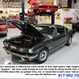 1966 Mustang fastback Ivy Green GT options 289-48