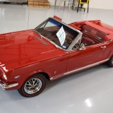 1966 Mustang GT convertible Candy Apple Red-2