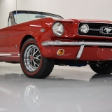 1966 Mustang GT convertible Candy Apple Red-20