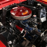 1966 Mustang GT convertible Candy Apple Red-25