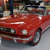 1966 Mustang GT convertible Candy Apple Red-35