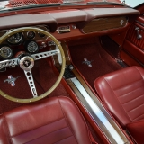 1966 Mustang GT convertible Candy Apple Red-51