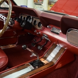 1966 Mustang GT convertible Candy Apple Red-52