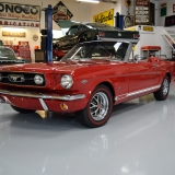 1966 Mustang GT convertible Candy Apple Red-55