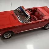 1966 Mustang GT convertible Candy Apple Red A code-12