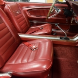1966 Mustang GT convertible Candy Apple Red A code-26