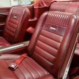 1966 Mustang GT convertible Candy Apple Red A code-4