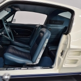 Blue 67 Mustang Fastback interior