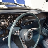 1967 Mustang blue deluxe steering wheel