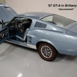 1967 Mustang GT A fastback Brittany Blue -1