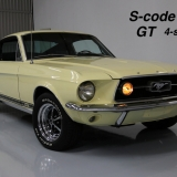 1967 Mustang S-code GT Fastback Yellow -01