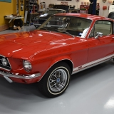 1967 S-code GT fastback Candy Apple Red & Parchment-2