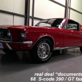 1968 Mustang GT 390 red 01