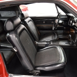 68 Mustang Fastback black deluxe interior
