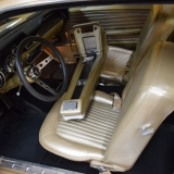 1968 Mustang GT Fastback Nugget Gold console