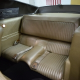 1968 Mustang Fastback Nugget Gold rear seat