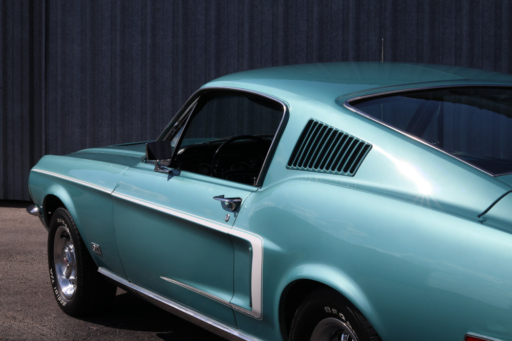1968 Mustang Gt Fastback Tahoe Turquoise For Sale