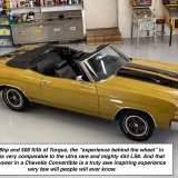 1971 Chevelle Super Sport 454 Convertible Placer Gold SS-26