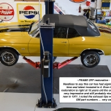 1971 Chevelle Super Sport 454 Convertible Placer Gold in shop