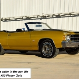 1971 Chevelle Super Sport 454 Convertible Placer Gold SS-48