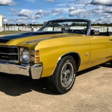 1971 Chevelle Super Sport 454 Convertible Placer Gold outside