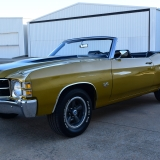 1971 Chevelle Super Sport 454 Convertible Placer Gold SS-54