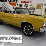 1971 Chevelle Super Sport 454 Convertible Placer Gold SS-8