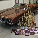 1972 442 Convertible with trophies