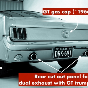 How to tell a real GT Mustang exhaust tips