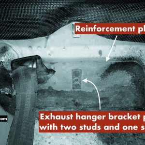 How to confirm a real GT Mustang exhaust hangar bracket